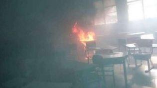 Aluno queima prova em sala de aula e causa princípio de incêndio