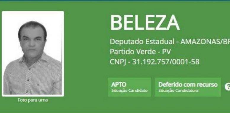José Ribamar Beleza teve o registro de candidatura aceito pelo TRE, mesmo com impugnação pelo Ministério Público Eleitoral, que vai recorrer (Foto: Reprodução/TSE)