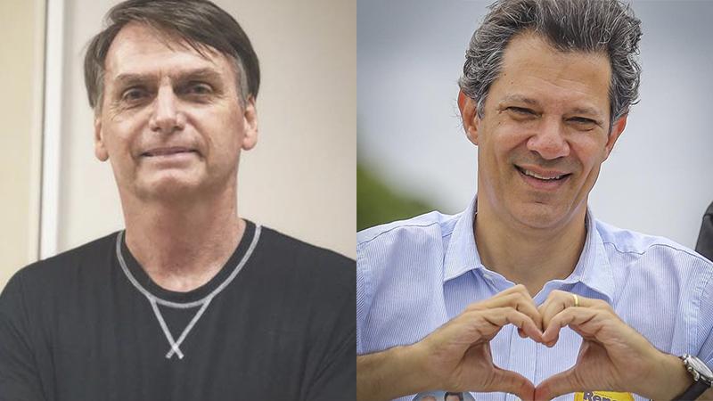 Presidenciáveis Jair Bolsonaro e Fernando Haddad buscam alianças para o segundo turno (Foto: Divulgação)