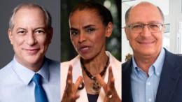 Ciro Gomes, Marina Silva e Geraldo Alckmin