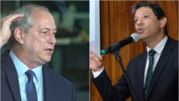 Disputa entre Ciro Gomes e Fernando Haddad é mais acirrada no Nordeste (Fotos: Leo Canabarro/PDT e Fernando Pereira/PMSP)