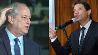 Disputa entre Ciro Gomes e Fernando Haddad é maior no Nordeste