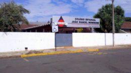 Colégio Estadual João Manoel Mondrone, em Medianeira, onde estudante atirou em colegas. Aulas foram suspensas (Foto: Facebook/Reprodução)