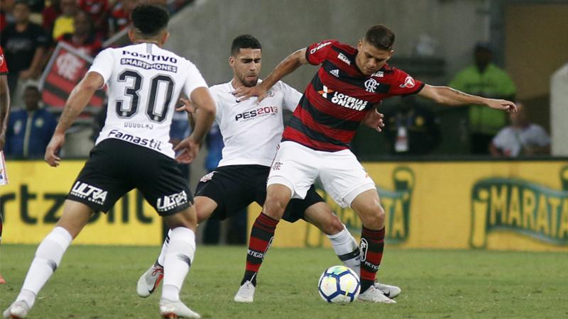 Em jogo de ataque flamenguista contra defesa corintiana, paulistas conseguiram empate (Foto: Staff Imagens/Flamengo)