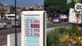 Preço do litro da gasolina aditivada em Manaus passa de R$ 5. Comum chega a R$ 4,99