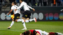 Jadson marcou o gol de empate antes da virada do Corinthians sobre o Sport (Foto: Rodrigo Gazzanel/Agência Corinthians)