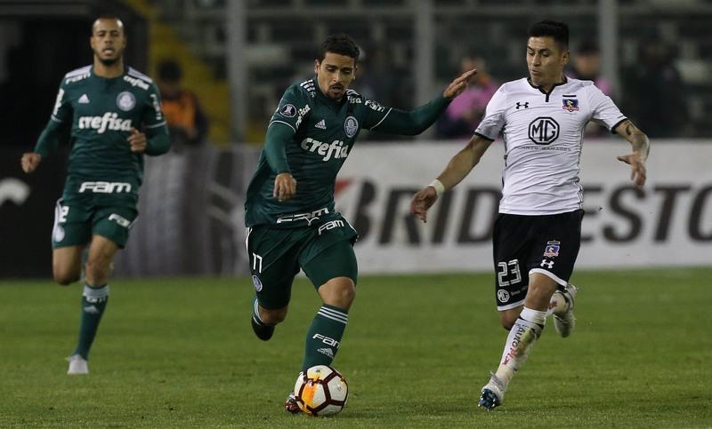 Jean entrou no segundo tempo e manteve domínio de bola no meio-campo do Palmeiras (Foto: Cesar Greco/Ag. Palmeiras)