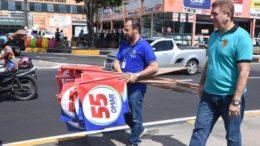 Bandeiras de Omar Aziz apreendidas