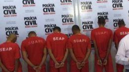 Oito homens foram presos em Unaí sob a acusação de estupro de vulnerável (Foto: Divulgação)