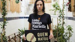 Mônica Benício denuncia a demora nas investigações sobre o assassinato de Marielle Franco e Anderson Gomes (Foto: Anistia Internacional/Divulgação)