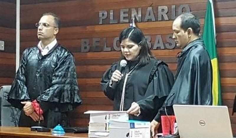 Sentença de 30 anos de prisão foi lida pela juíza ao final do julgamento (Foto: MP-AM/Divulgação)