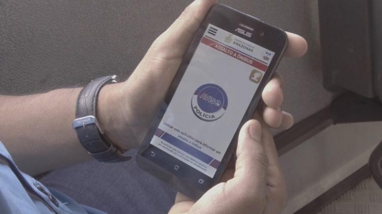 Aplicativo sobre botão do pânico para usuários de ônibus terá versão para escolas (Foto: SSP-AM)