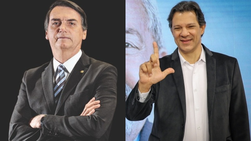 Jair Bolsonaro e Fernando Haddad disputarão segundo turno para a Presidência no dia 28 deste mês (Foto: Divulgação)