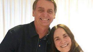 Bolsonaro parabeniza Regina Duarte e atriz comemora