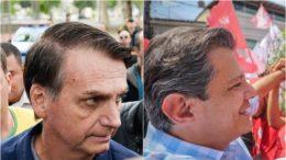Jair Bolsonaro obteve curta vantagem sobre Fernando Haddad entre o eleitorado no Amazonas (Fotos: