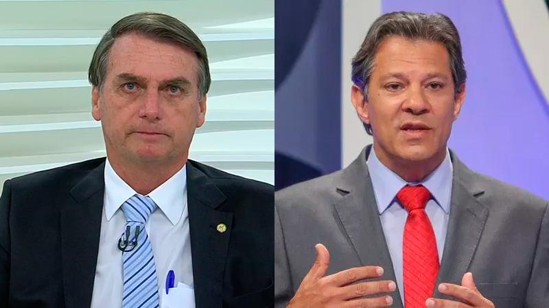Jair Bolsonaro e Fernando Haddad (Fotos: Reprodução)