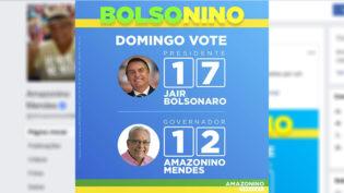 Amazonino cria o termo 'Bolsonino' em 'cola' para voto no 2° turno