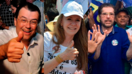 Braga, Vanessa e Plinio