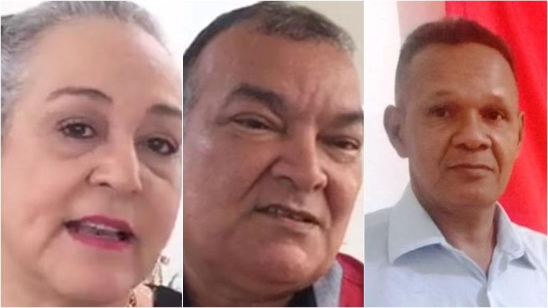 Lúcia Antony, Berg da UGT e Sidney Cabral ainda não declararam apoio a candidatos no 2º turno (Fotos: ATUAL)