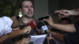 Dias Toffoli lembrou candidatos sobre juramento a Constituição e cumprimento da Lei Magna (Foto: José Cruz/ABr)