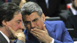Eunício Oliveira, presidente do Senado e o ex-líder do governo Temer Romero Jucá não se reelegeram (Foto: Geraldo Magela/Agência Senado)