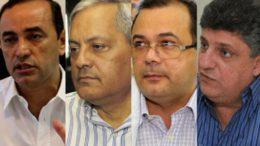 Ex-secretários Evandro Lobo Fazenda), Evandro Melo Administração), Pedro Elias de Souza (Saúde) e Raul Zaidan (casa Civil) são alvos de ação do MPF (Fotos: ATUAL e SECOM)