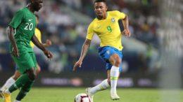 Gabriel Jesus marcou em amistoso em retorno à Seleção após a Copa do Mundo (Foto: Lucas Figueiredo/CBF)