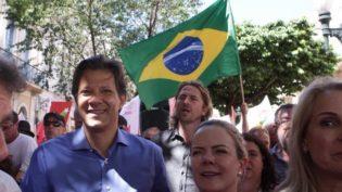 Lula orienta Haddad a fazer campanha sem visitá-lo na prisão, diz Gleisi
