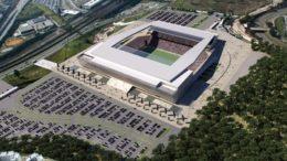 Arena Corinthians e seu entorno ganharão as cores de Corinthians e Cruzeiro (Foto: Corinthians/Divulgação)