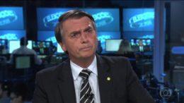 Jair Bolsonaro disse que poderia cortar verba publicitária da Folha de S. Paulo (Foto: TV Globo/Reprodução)