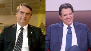 Datafolha mostra Bolsonaro com 58% dos votos válidos contra 42% de Haddad