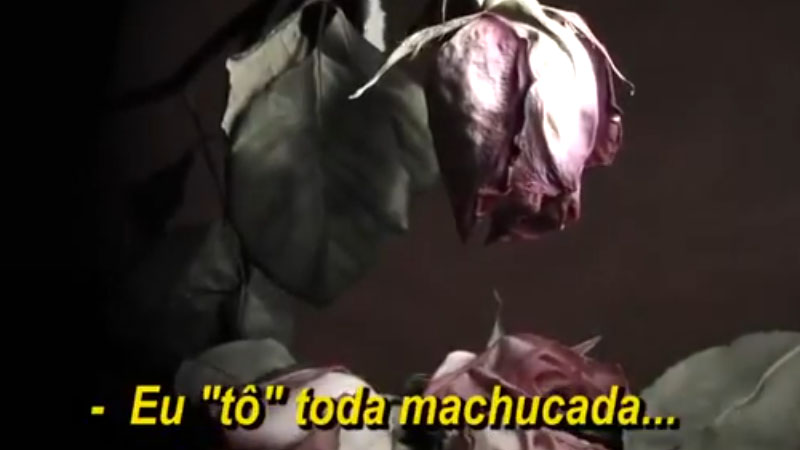 Imagem de vídeo com áudio em que mulher narra agressão de marido (Foto: reprodução)