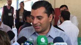 Wilson Lima evitou falar sobre secretários e disse que prefere aguardar resultado da eleição (Foto: Patrick Motta/ATUAL)