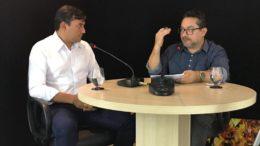 Governador eleito Wilson Lima concedeu entrevista a Valmir Lima, do ATUAL (Foto: ATUAL)