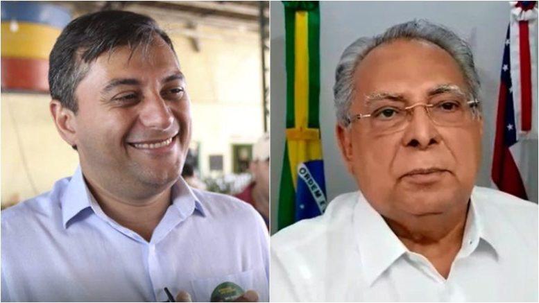 Diferença entre Wilson Lima e Amazonino Mendes aumentou em sondagem de votos da Pesquisa365 (Fotos: ATUAL)