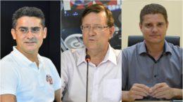 David Almeida, José Ricardo e Marcos Rotta foram os mais citados por eleitores em pesquisa de intenção de voto (Fotos: ATUAL)