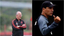 Os técnicos Dorival Júnior e Zé Roberto têm metas distintas no clássico deste sábado (Fotos: Gilvan de Souza/Flamengo e Vitor Silva/SSPress/Botafogo)