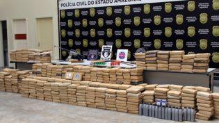 Meia tonelada de maconha é apreendida no Amazonas e quatro traficantes são mortos