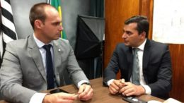 Eduardo Bolsonaro e Wilson Lima