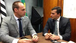 Eduardo Bolsonaro pede que Wilson Lima vá à posse do presidente
