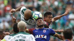 Felipe Melo em lance de jogo do Palmeiras, que pode ser campeão nesta quarta-feira (Foto: César Greco/Ag. Palmeiras)