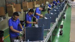 Fábrica chinesa da marca Gree em Manaus: incentivo fiscal e modelo de fabricação com importação de insumos (Foto: Gree/Divulgação)