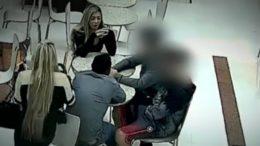 Câmeras flagram suspeitos de matar o jogador Daniel em shopping no Paraná (Foto: Reprodução)