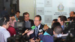 Presidente do TJAM, Yedo Simões anunciou investimentos na modernização do Judiciário no Amazonas (Foto: Chico Batata/TJAM)