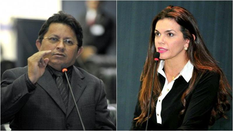 Deputado Sinésio Campos aceitou cobrança da colega Alessandra Campêlo e passou a elogiar atuação política (Fotos: ATUAL)