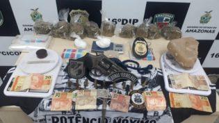Em casa alugada por 'Sorriso' polícia encontra revólver e drogas