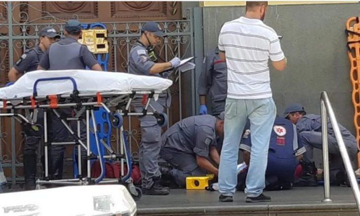 Policiais e socorristas atendem vítimas de atentado em igreja de Campinas (Foto: PC-SP/Divulgação)