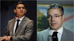 Deputados David Almeida e Josué Neto trocaram insultos no plenário da ALE nesta quinta-feira (Fotos; Alberto César Araújo/ALE-AM)