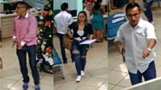 Diante de câmeras de segurança, trio rouba R$ 100 mil de banco em Manaus
