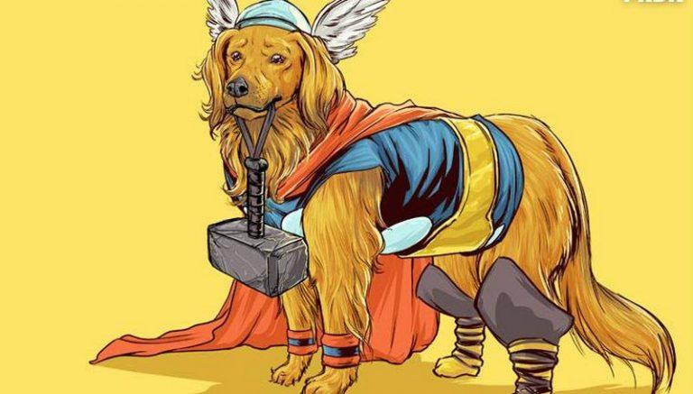 Thor é o nome preferido pelos brasileiros para batizar seus cães machos, revela censo (Foto: behance/JoshuaLynch/Reprodução)